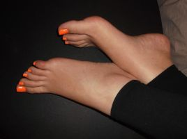 Orange Nails 5 by Whor4cle