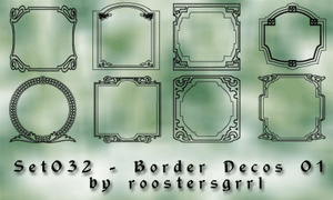 Set032 - Border Decos 001 by wolfgrrlone