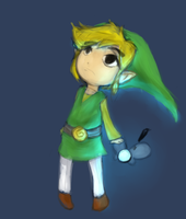 Toon Link doodle by LittleGlacie