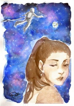 Raven Reyes, The 100 - Water color + Photoshop by rose-92