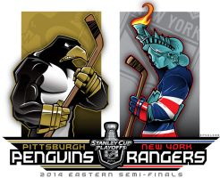 NHL-PLAYOFFS-Rd2 Penguins vs. Rangers by Epoole88