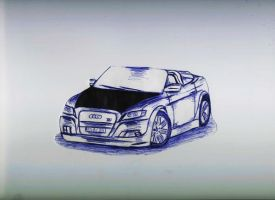 Audi S5 Cabriolet DRAWING by toyonda