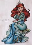 The Little Mermaid Drawing - Ariel by ShiroiNekosArt