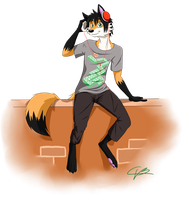 commission 6 - brian the fox by bunslake