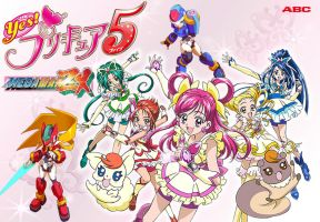 Yes Precure 5 and Megaman ZX by isaacyeap