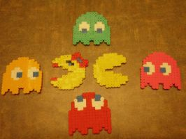 Bead Sprites - Pacman by Cuttlefish43