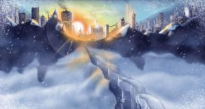 Snow City by SamBrownArt