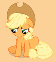 Sad Applejack by punchingshark