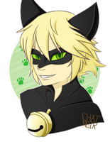 Chat Noir bust by lupie1324