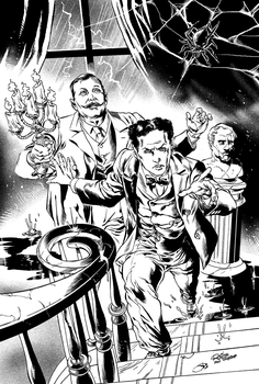 Conan Doyle and Houdini in The Spook House by werewolfwriter