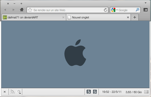about:blank Blue Apple logo by dafmat71