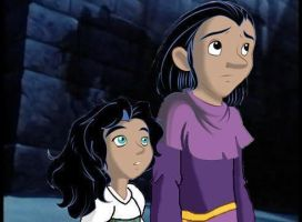 Clopin and Esmeralda as Kids by iheartcartoons