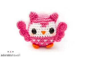 cute pink owl amigurumi by adorablykawaii
