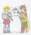 Building a snow viking by ChloeDahlia