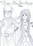 Gohan and Rinoa by Meticulous-Dragon