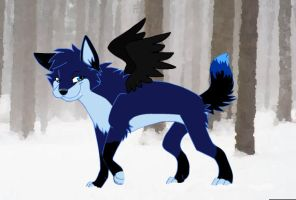 Blue Wolf by Shadow-Unic-Love