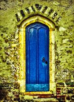 The Door Of Blue Old House by RiegersArtistry