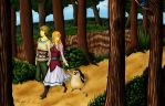 A Stroll in the Forest by SkyloftianKnight