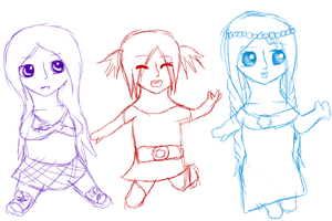 Alicia, Mahalia, and Ruby as Kids by IvyDevi