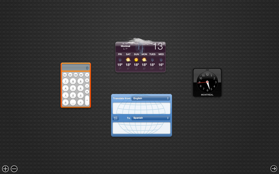 New Mac OS X Mountain Lion Dashboard! by Vincee095