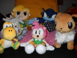 My new plushies!!! by MicaiahtheEchidna
