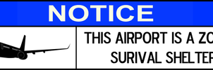 Zombie Survival Shelter Window Sticker - Airport by MrAngryDog