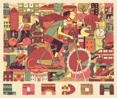 Cycle London by MumblingIdiot