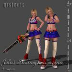 Juliet Starling Hair Replace + Weapons accessories by DamianHandy