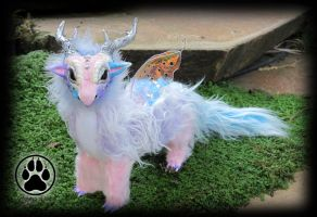 SOLD Pastel baby dragon poseable artdoll OOAK! by CreaturesofNat