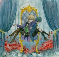 Alois and Ciel by lleenu