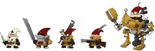 Videogame Concept Art - Faction - Gnomes. by yaddar