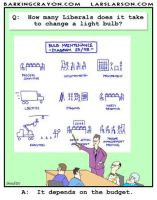 Liberals Changing Light Bulb cartoon by Conservatoons
