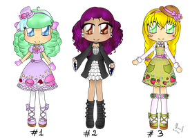[CLOSED Adoptables] Chibi Girls by LiloLilosa