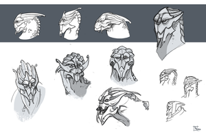 Turian Sketches by Clovernight
