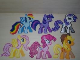 Mane Six Pony Perler Set by Perler-Pop