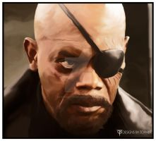Nick Fury by DesignsByTopher