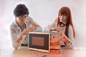 Steins Gate - Creepy Halloween Experiment by Rei-Suzuki