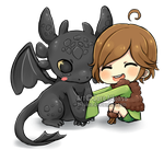 Toothless and Hiccup by Hirukio