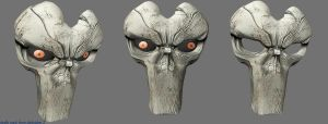 death mask frm darksiders 2 by sharonmudz