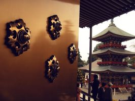 Golden Ornaments on the Door by a-nyul