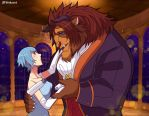KH : Terraqua (Beauty and the Beast) by pink-crest