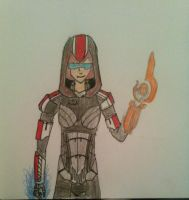 Commander Jane Shepard the Assassin by musicluver4113