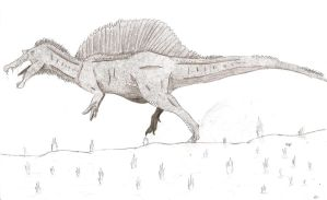 the old view of spinosaurus by dinosaurusbrazil