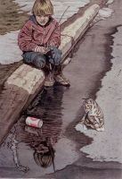 Fishing in a Puddle by Face-Reality