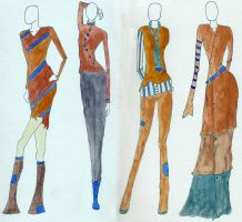 Winter Collection orange blue by zlyoga