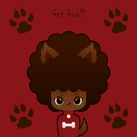 Werewolf afro girl by to-much-a-thing