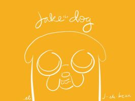 Jake the Dog by j-eli-bean
