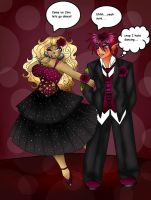 DA Prom Couple #2: Cheshire and Jinx by BrownieTheif