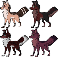 Canine adopts[1/4 OPEN] by Glasiar