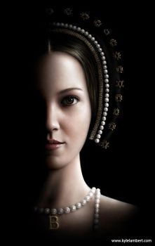 ANNE BOLEYN - PHOTO-REALISTIC BOOK COVER by kyle-lambert